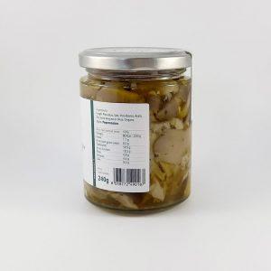 Funghi Pleurotus in Olio Extra Vergine di Oliva